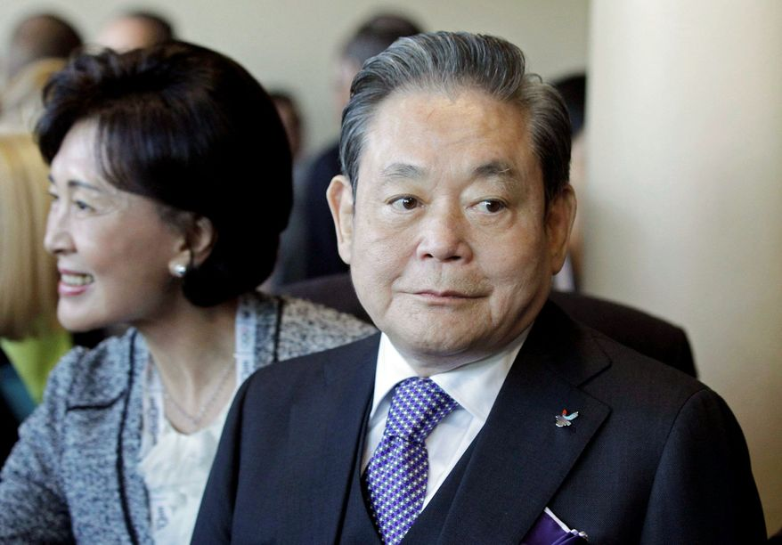 Among the South Korean executives who have be involved in corrupt business practices are Samsung Electronics Co. Chairman Lee Kun-hee, right. (Associated Press)