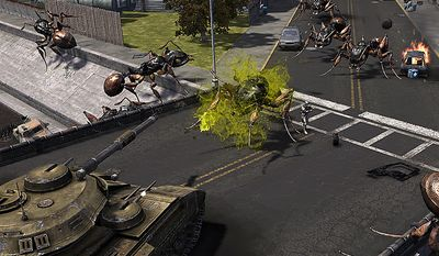 Get into a tank and start shooting bugs in the video game Earth Defense Force: Insect Armageddon.
