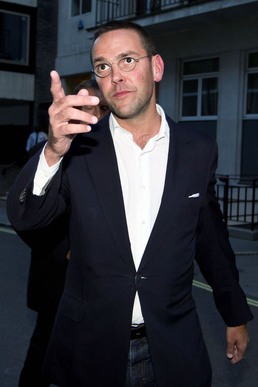 James Murdoch, son of Rupert Murdoch, holds a leadership position in his father's media group as chairman of News International. (Associated Press)