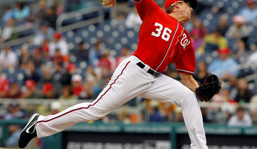 Nationals set-up man Tyler Clippard's unique arm angle allows him to blow fastballs past hitters with regularity. His 63 strikeouts are second among all relievers. (Associated Press)