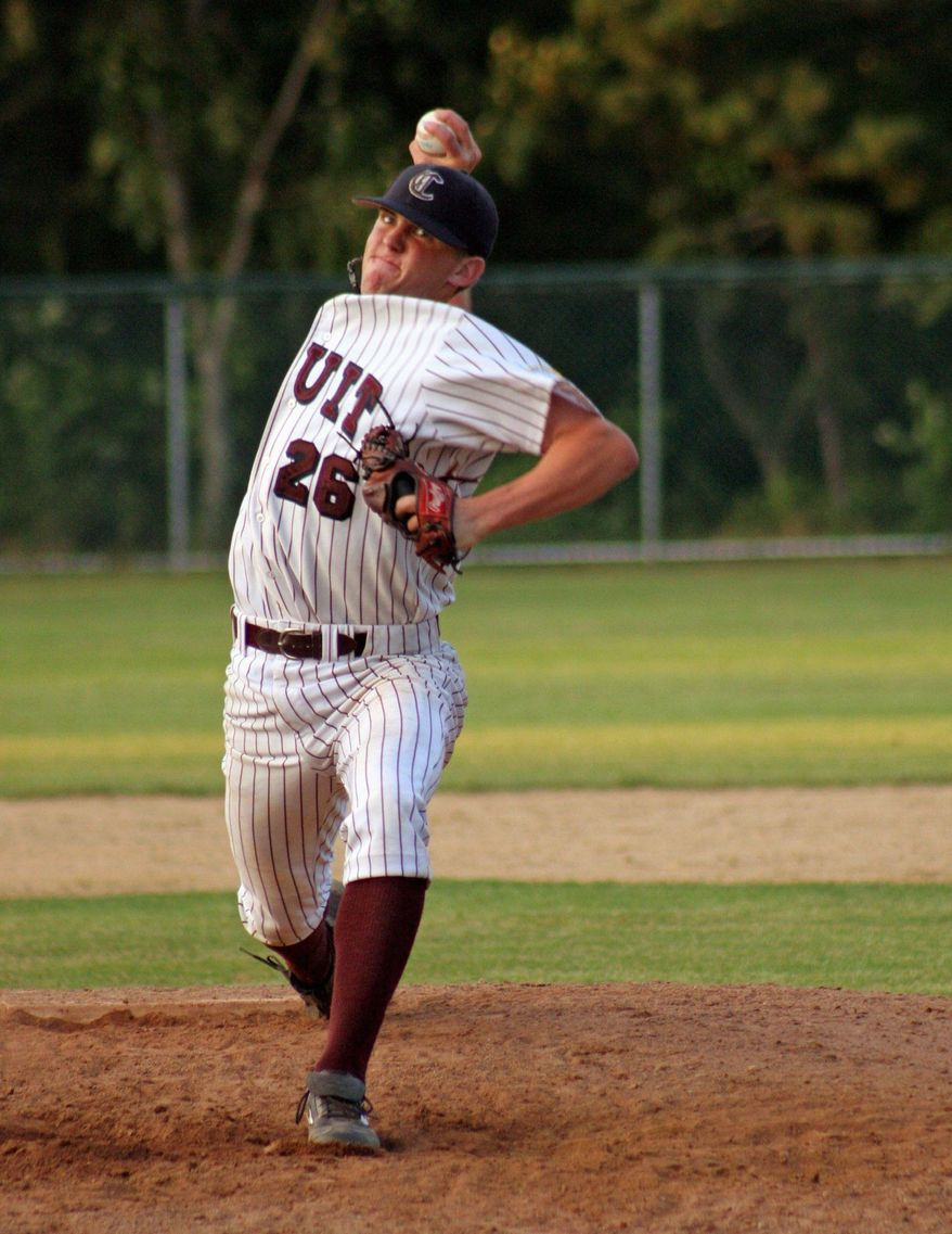 Nationals closer Drew Storen pitched for Cotuit of the Cape Cod League in 2008 before being drafted by Washington in 2009. (Rick Heath/Cotuit Kettleers)