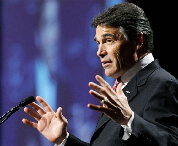 Texas Gov. Rick Perry has phoned influential Republicans in early-voting New Hampshire and Iowa in recent days as he weighs whether to enter the race for the GOP presidential nomination. (Associated Press)