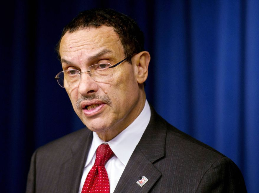 D.C. Mayor Vincent C. Gray has withdrawn a security contract with the District, currently held by U.S. Security Associates, citing D.C. Council concerns about employment practices. (Rod Lamkey Jr./The Washington Times)
