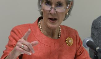 **FILE** U.S. Secretary of Health and Human Services Kathleen Sebelius (Associated Press)
