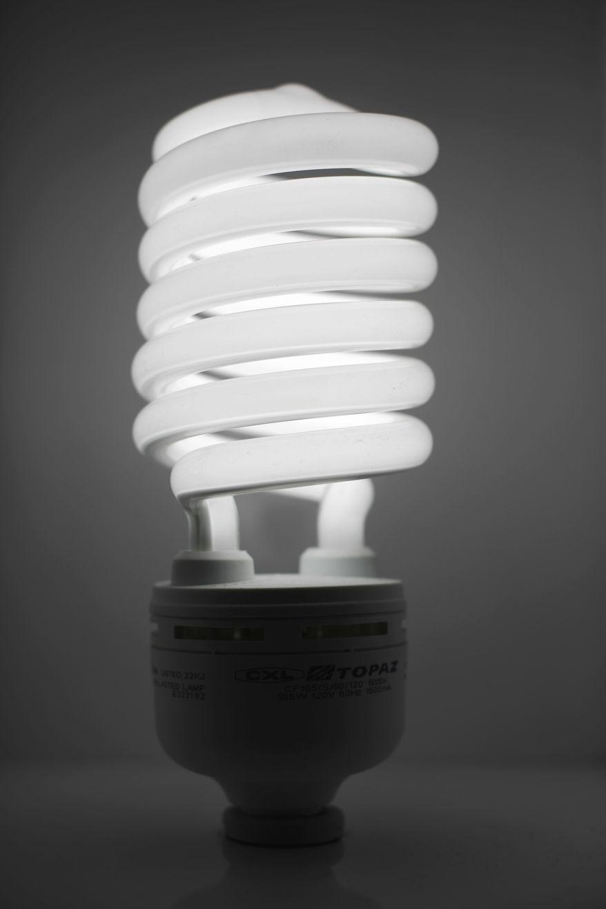 ** FILE ** A compact fluorescent light bulb (AP Photo/Matt Rourke, File)