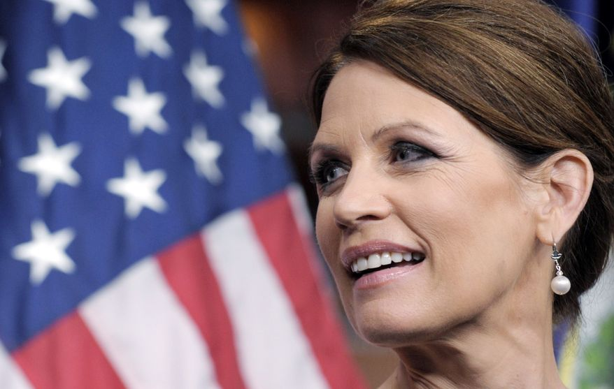 'ZOOMING': Rep. Michele Bachman, who is moving up in national opinion polls, will have to broaden her appeal if she wants to win the presidential nomination, Republican analysts say. (Associated Press)