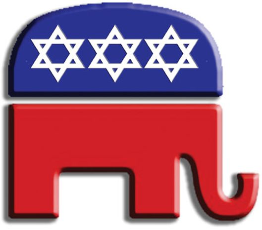 Illustration: Jewish Republicans by John Camejo for The Washington Times