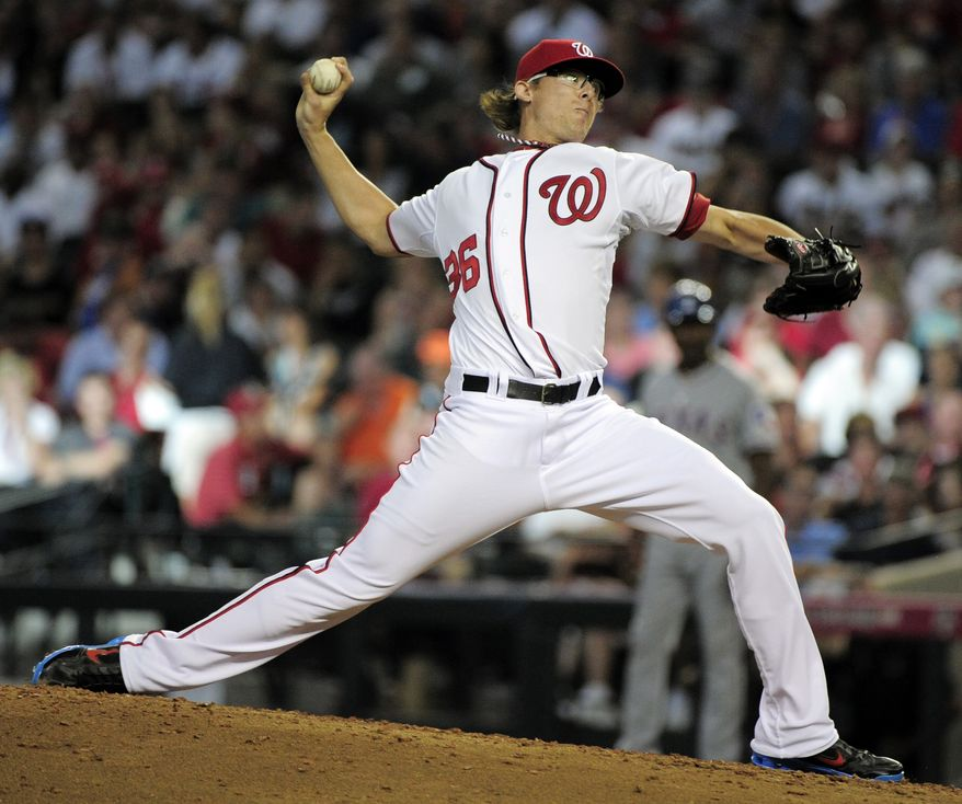National League's Tyler Clippard of the Washington Nationals pitches during the fourth inning of the MLB All-Star Game on Tuesday. Clippard earned the win in relief as the National League beat the American League 5-1. (AP Photo/Mark J. Terrill)