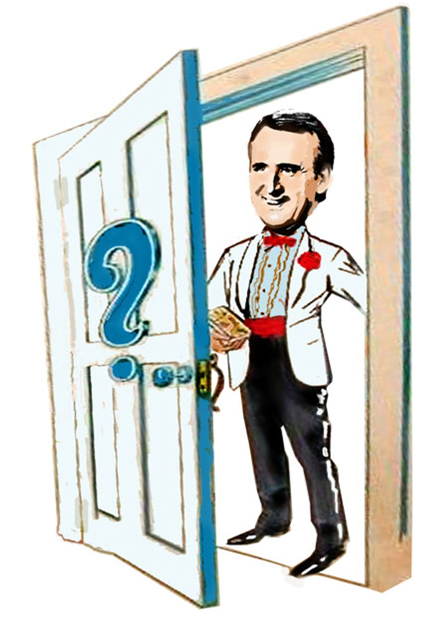 Illustration: Mystery Man by John Camejo for The Washington Times