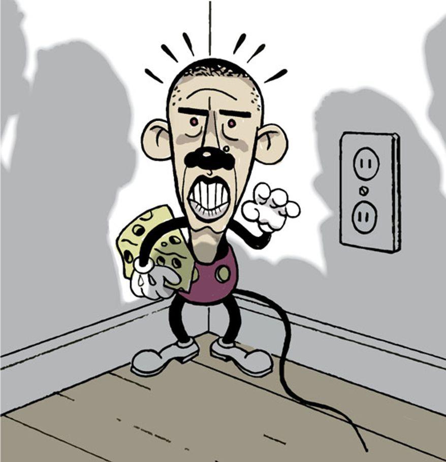 Illustration: Obama Mouse by Alexander Hunter for The Washington Times