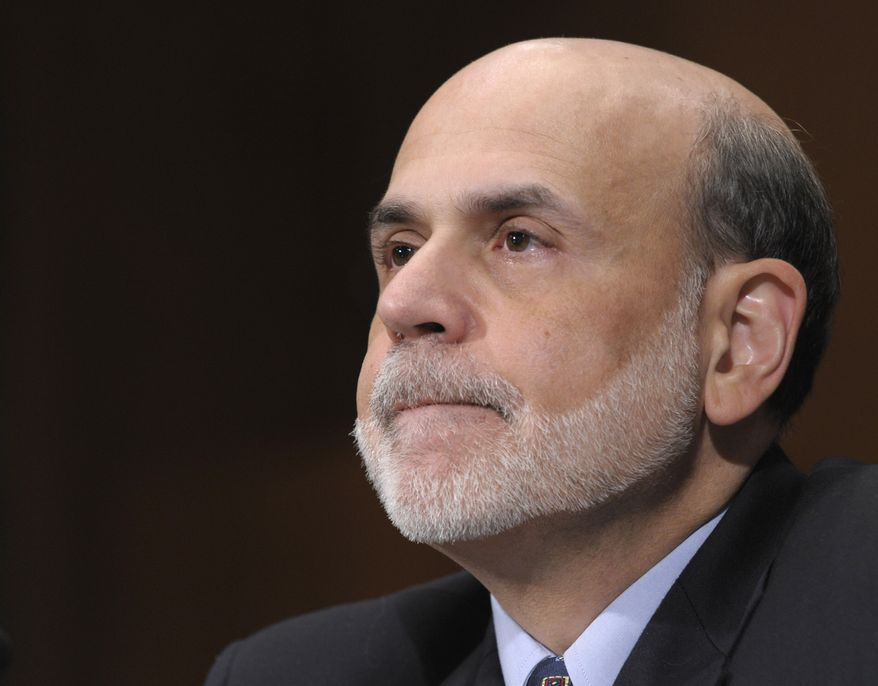 Federal Reserve Chairman Ben S. Bernanke testifies on Capitol Hill in Washington, Thursday, July 14, 2011, before the Senate Banking Committee to deliver the semiannual Monetary Policy Report. (AP Photo/Susan Walsh)