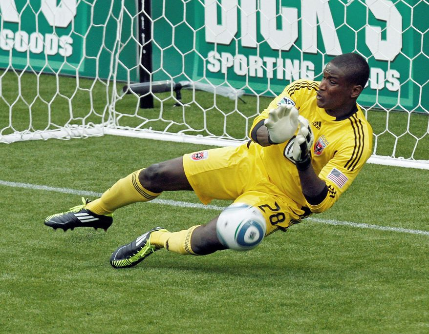 D.C. United goalie Bill Hamid made three saves in the 0-0 draw with FC Dallas on Saturday. (Associated Press)