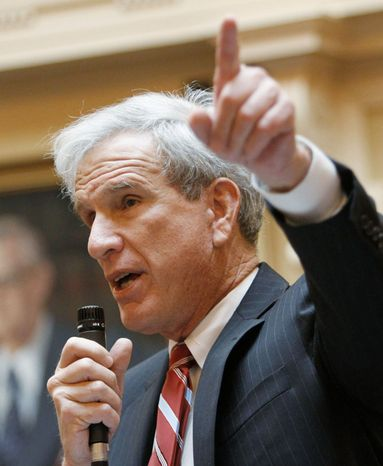 Virginia state Sen. Richard L. Saslaw, Fairfax Democrat, hopes his party can retain its narrow control of the upper chamber in this November's state legislative elections. (Associated Press)