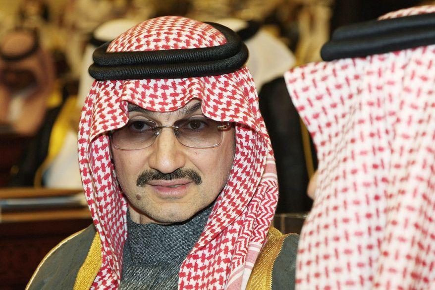 Saudi billionaire Prince Alwaleed bin Talal al-Saud