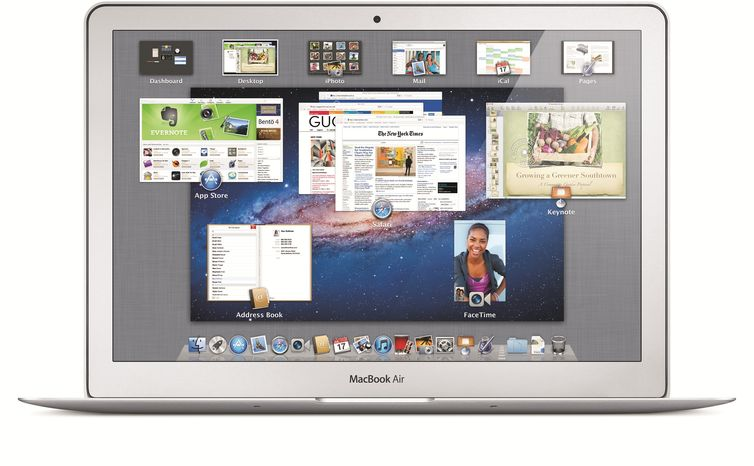 "Screen shot shows ""Mission Control,"" one of the new features in Mac OS X ""Lion,"" which Apple Inc. says will be on sale, online, July 20."