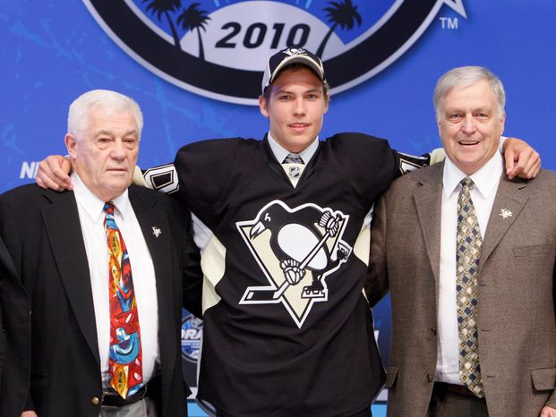 California-born Beau Bennett was taken with the 20th overall selection by the Pittsburgh Penguins in the 2010 NHL draft. (AP Photo/Reed Saxon)