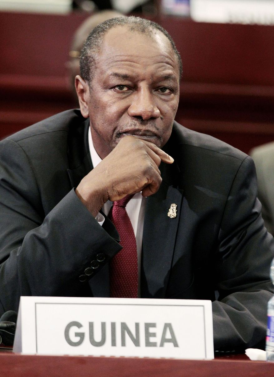 """Our enemies can try everything, but they will not stop the march of the Guinean people,"" Mr. Conde said in an address to the nation after the attack. (Associated Press)"