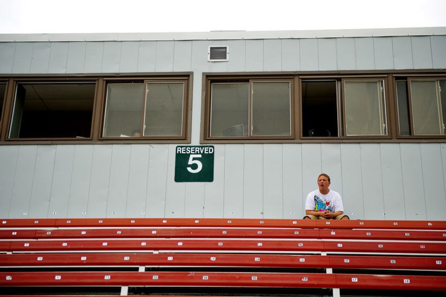 Kyle Davis, of Woodbridge, takes in the game at Pfitzner Stadium, between the Potomac Nationals and the Lynchburg Hillcats. (Drew Angerer/The Washington Times)