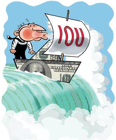 Illustration: Balanced budget by Alexander Hunter for The Washington Times