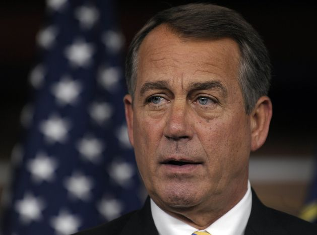 House Speaker John Boehner of Ohio speaks a news conference on Capitol Hill in Washington, Thursday, July 21, 2011. (AP Photo/Susan Walsh)