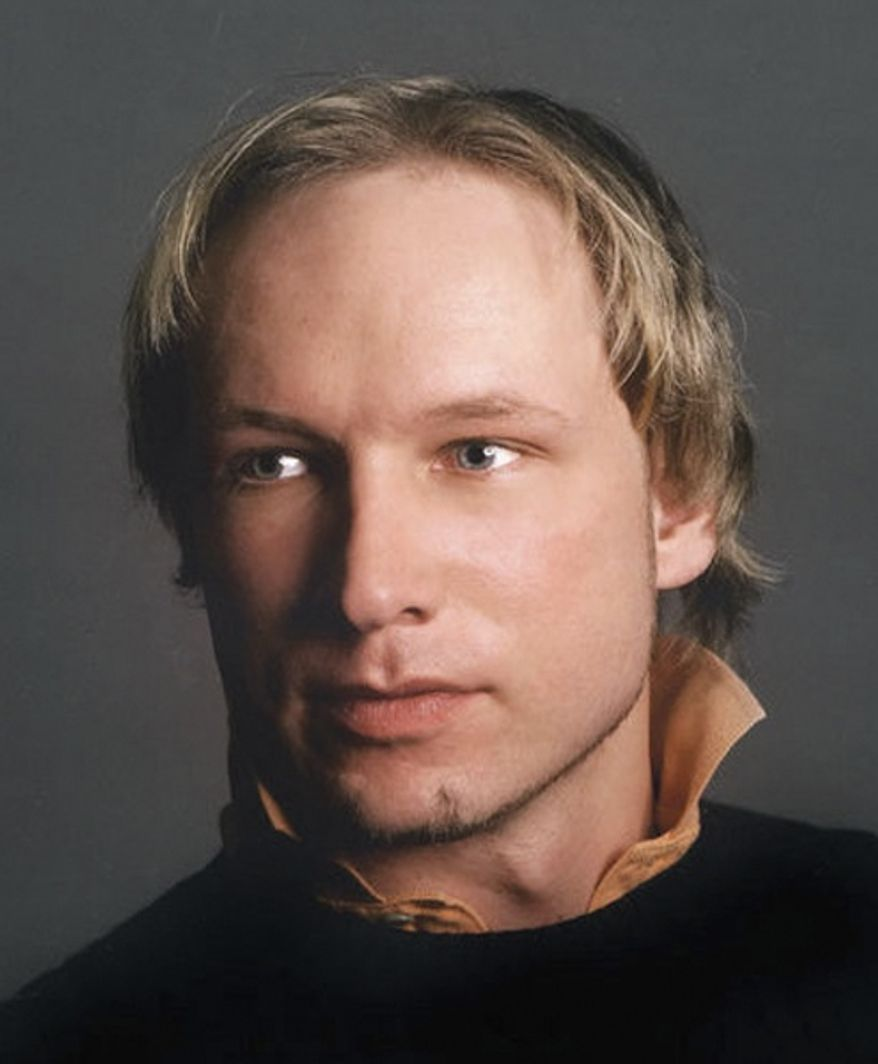 This is an undated image obtained from the Twitter page of Anders Behring Breivik, 32, who was arrested July 22, 2011, in connection to the twin attacks on a youth camp and a government building in Oslo, Norway. (Associated Press/Twitter)