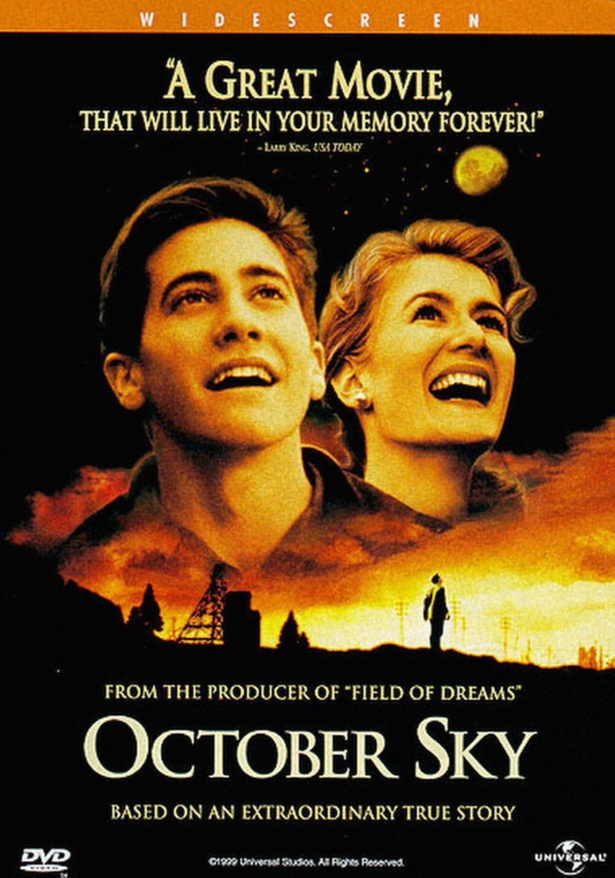 """DVD cover for """"October Sky,"""" released by Universal Home Entertainment"""