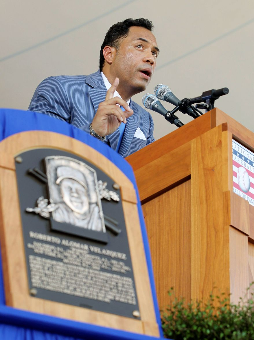 ASSOCIATED PRESS Roberto Alomar, a 12-time All-Star, won a record 10 Gold Gloves and had a career average of .300.