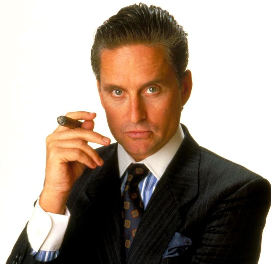 """Power suits like the one worn by Michael Douglas in """"Wall Street"""" are making a comeback. (Twentieth Century Fox)"""