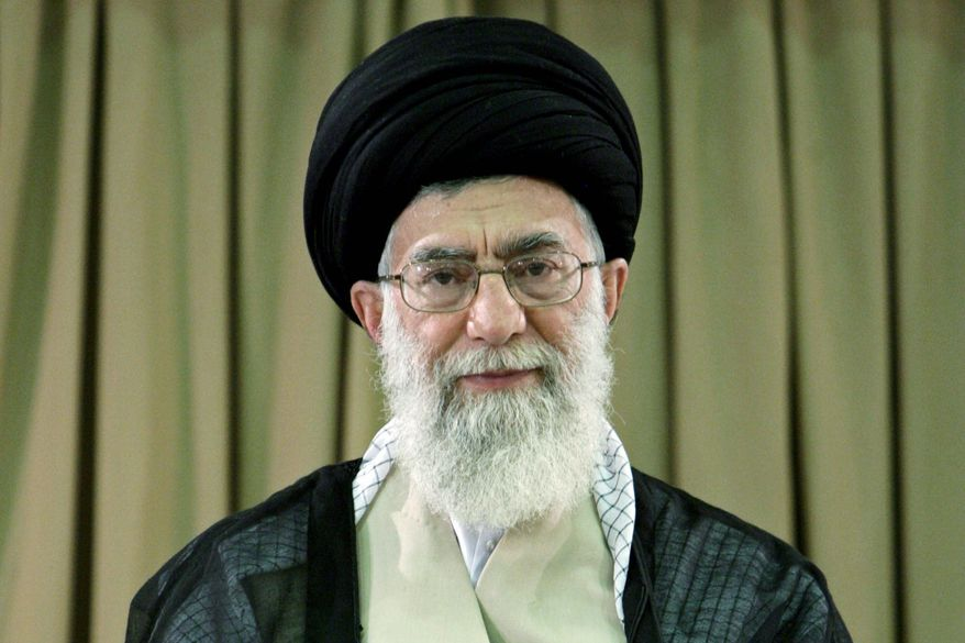 Iranian Supreme Leader Ayatollah Ali Khamenei is said to be concerned about international reaction should the country develop nuclear weapons. (Associated Press)