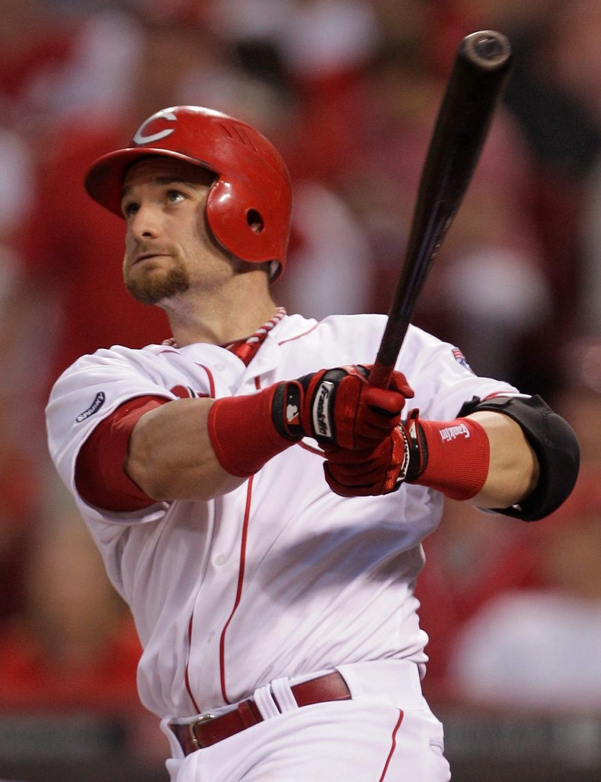 The Washington Nationals acquired outfielder Jonny Gomes from the Cincinnati Reds for two minor leaguers. (AP Photo/Al Behrman)