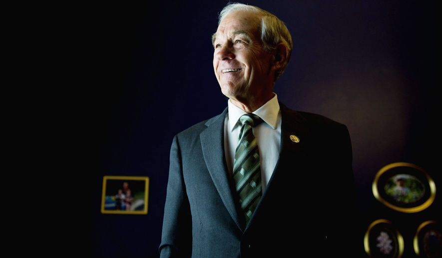 """HEARD: """"The magnificence of what is happening right now,"""" Ron Paul says, """"is [people] are starting to pay attention."""" (Drew Angerer/The Washington Times)"""