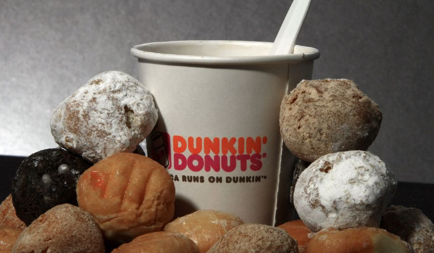 Dunkin' Donuts products are displayed Wednesday, July 27, 2011, in Montpelier, Vt. (AP Photo/Toby Talbot) ** FILE **