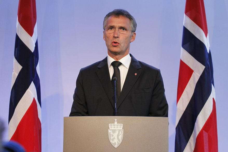 Norway's Prime minister Jens Stoltenberg speaks during a press conference in Oslo on July 27, 2011. (Associated Press)