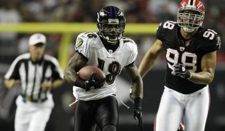 "Veteran receiver Donte Stallworth told 106.7 The Fan on Wednesday that he's ""excited to be a Redskin now."" Stallworth is expected to sign his deal Friday, the first day teams are allowed to finalize free agent contracts under the labor rules implemented at the end of the NFL lockout. (AP Photo/David Goldman, File)"