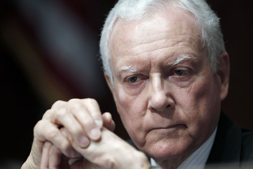 "Sen. Orrin G. Hatch, Utah Republican, said of a new Centers for Medicare and Medicaid Services report, ""Simply put, this report states the obvious, that Americans have known for more than a year - the $2.6 trillion law only makes the fundamental problem of skyrocketing health care costs worse."" (Associated Press)"