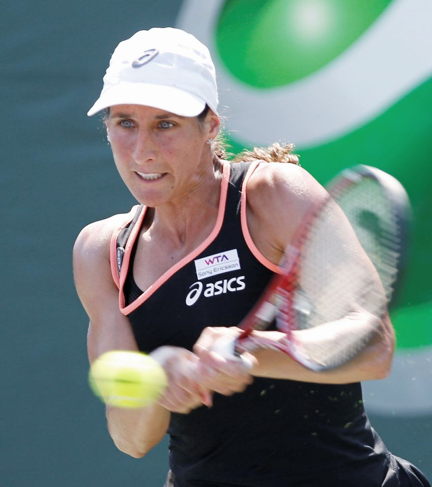 Virginie Razzano has used the death of her fiance as motivation on the court. She comes to the Citi Open with the goal of reclaiming the No. 16 ranking she once held. (Associated Press)