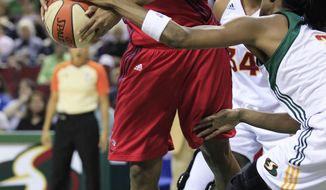 With a 3-12 record, the Washington Mystics' playoff hopes are fading fast. (AP Photo/Elaine Thompson)