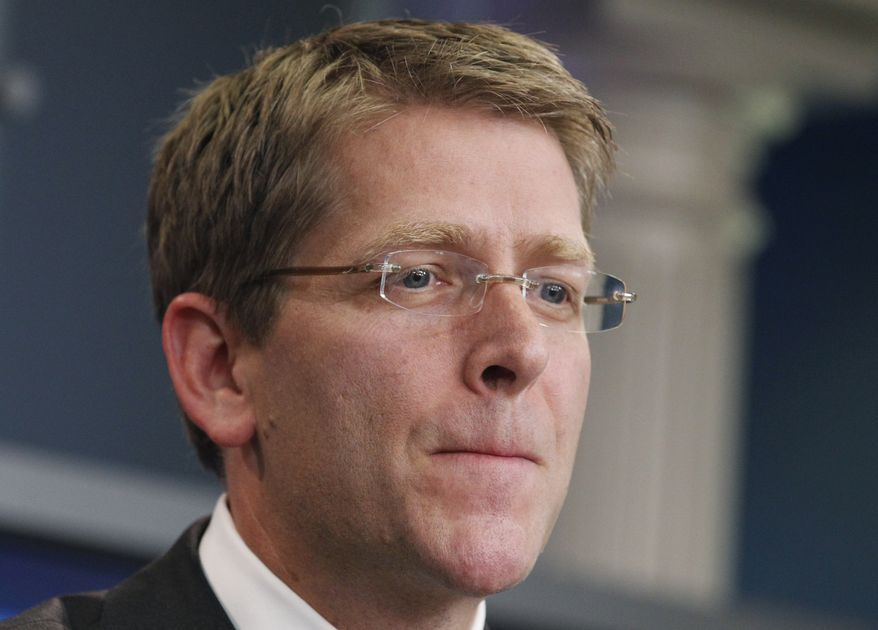 White House Press Secretary Jay Carney speaks to reporters during a press briefing at the White House on July 27, 2011. (Associated Press)