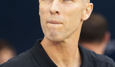 United States soccer coach Bob Bradley has been fired as head coach of the U.S. men's national team after five years, U.S. Soccer President Sunil Gulati announced Thursday. (AP Photo/Orlin Wagner, File)