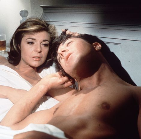 "ASSOCIATED PRESS Mrs. Robinson, portrayed by Anne Bancroft, brought cougerdom to fame by seducing young Benjamin Braddock, played by Dustin Hoffman, in the 1967 film ""The Graduate."""