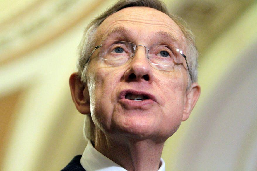 Sen. Harry Reid, Nevada Democrat, is the Senate majority leader.