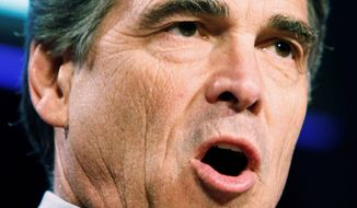 Republican Texas Gov. Rick Perry has not announced whether he will run for president, but he will host D.C.-based small-business groups later this month. (Associated Press)
