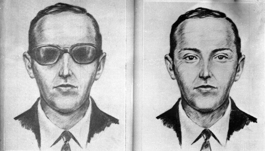 """A 1971 artist's sketch released by the FBI shows the skyjacker known as """"Dan Cooper"""" and """"D.B. Cooper,"""" that was created from the recollections of passengers and crew of a Northwest Orient Airlines jet he hijacked between Portland, Ore., and Seattle. (Associated Press)"""