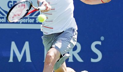 ASSOCIATED PRESS Mardy Fish won the Atlanta Tennis Championships in July and was a finalist in the Farmers Classic this past weekend.