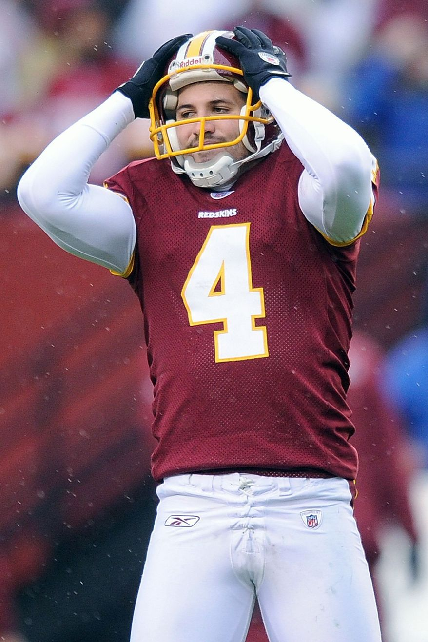 ASSOCIATED PRESS Redskins kicker Graham Gano missed 11 field goal attempts last season, tied for most in the NFL.