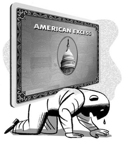 Illustration: Spending by Alexander Hunter for The Washington Times