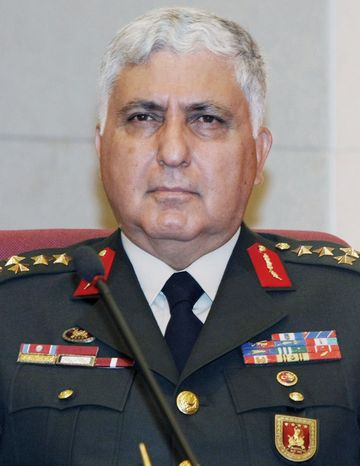 Gen. Necdet Ozel is the newly appointed land forces commander and acting military chief of staff. (Associated Press)