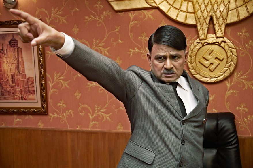 "PHOTOGRAPHS PROVIDED BY AMRAPALI MEDIA VISION Diminutive actor Raghubir Yadav plays Adolf Hitler in the Indian movie ""Dear Friend Hitler,"" based on two letters Mahatma Gandhi wrote to the Fuhrer beseeching him to avoid war. Avijit Dutt plays Gandhi."