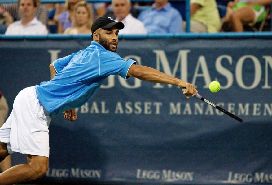 James Blake, 31, is aware his prime days as a player are behind him. Thus, he wants to impart the knowledge he learned from stars such as Andre Agassi and Pete Sampras. (Pratik Shah/The Washington Times)
