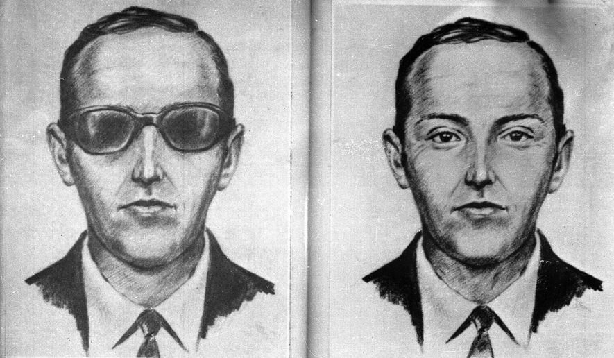 """This 1971 artist's sketch provided by the FBI shows the skyjacker known as """"Dan Cooper"""" or """"D.B. Cooper."""" A jet was hijacked on Nov. 24, 1971. (Associated Press)"""